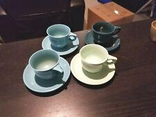 4 Boonton Melmac Melamine Coffee Tea Cups 206-8 w/ Saucers 202-8