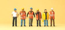 Preiser 10420 Workers in Safety Vests (Pk6) HO Gauge Figures