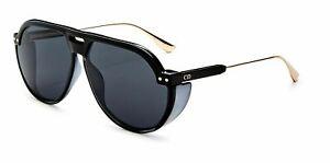 New Christian Dior Unisex Black Grey DIOR CLUB 3 08A/IR Pilot Sunglasses