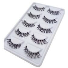 5 Pairs Lot Black Cross False Eyelash Soft Long Makeup Eye Lashes Extension TR