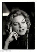 1980 Original Detroit Free Press Photo by Porter actress starlet Lauren Bacall