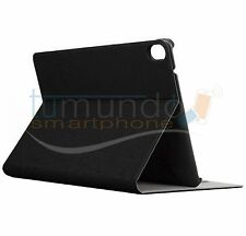 FUNDA SOPORTE de PIEL NEGRA para HTC GOOGLE NEXUS 9 case STAND