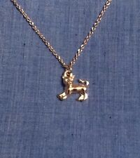 Monopoly Kitty Cat Charm Necklace Gold Color NEW CUTE