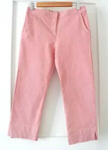 * VINTAGE TIME * Sz 12 red + white stripe cotton 3/4 pants