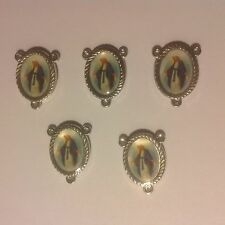Rosary Center Piece with Our Lady of Mercy - (5) Five pieces - NEW