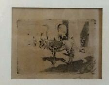 """Mariano Fortuny, """"Cheval Du Maroc"""", 19th centuy etching, frmaed and signed"""