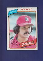 Ken Reitz 1980 TOPPS Baseball #182 (NM+) St. Louis Cardinals
