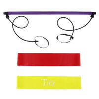 1 Set Workout Equipment Include Pilate Resistance Band and Yoga Toning Bar
