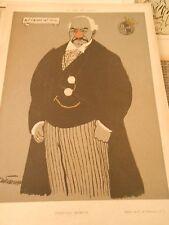 Rois des Trusts Pierpont Morgan Aut Caesar aut nihil Humour Print 1903