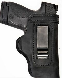 Pro Carry LT RH LH OWB IWB Leather Gun Holster For Glock 17 w/ Factory Laser