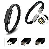 USB Braccialetto Dati Cavo Caricabatteria Per Ios / Tipo C Android Micro Z201