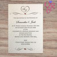 25 Wedding Invitations Evening Invites Handmade and Personalised Elegant Vintage