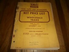 Vintage FORD FOMOCO 1928-52 PARTS NET PRICE LIST Manual Book Catalog
