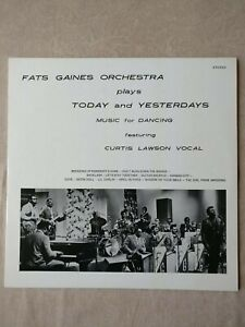 FATS GAINES ORCHESTRA Plays Today US 1st Press PRIVATE Soul Jazz Funk LP NM!