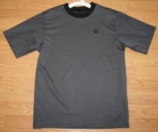 Small Starter Gray Black Polyester Men Man Crewneck Tee T-Shirt Short Sleeve Top