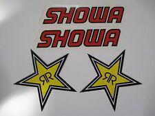 Showa & Rockstar energy motorcycle bike stickers decals - PLUS 2 FREE stickers