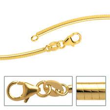 Halsreif 333 Gelbgold 2 mm 45 cm Gold Kette Halskette Goldhalsreif Karabiner.