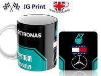 Mercedes F1 Formula One car Racing Motorsport Mug and coaster - 2020 NEW livery
