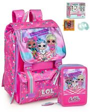 Schoolpack Zaino estensibile + Astuccio + Tiny Toys Lol Surprise 93512_KIT