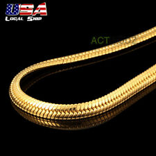 """Nobby Men Jewelry 24"""" Gold Plated Necklace 4.5mm Snake Chain Heavy Choker #54"""