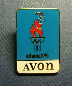 Olympic Pin: Blue Avon Olympic Pin 1996 Atlanta Olympic Sponsor Pin Avon Olympic