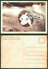 KB888 AK Postkarte Reklame Propaganda 2.WK Wicked Woman Jet Aircraft USA