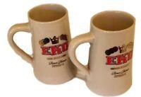 Eku Beer Mug Spezial Frankfurt Ceramic Collectable Beer Mug Lot (2)