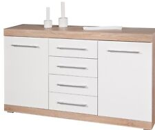 Cupboard Mobile Buffet Line Lublin Structure oak 2 Doors and 4 Drawers