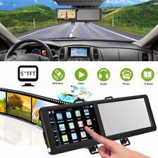 5'' 8GO GPS Système Voiture Navigation Bluetooth Rétroviseur Map Europe Carte