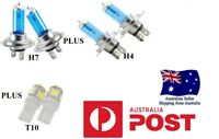 CRYSTAL WHITE Headlight Light Bulbs FALCON BA BF FG XR6 XR8 LED Number Plate