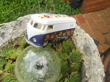 "Volkswagen Hippy Bus/Van Symbol on Front 4 3/4"" Wide.  2+"" High Purple & White"