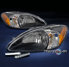 FOR 2000-2007 FORD TAURUS OE REPLACEMENT STYLE HEADLIGHTS BLACK W/BUMPER DRL LED