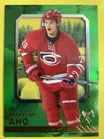 2016-17 Fleer Showcase Rookie  EX 2017 #23 Sebastian Aho Carolina Hurricanes RC