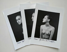 3x artnude contact print by Pavel Apletin, silver gelatin signed female nudity