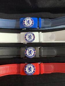 mens leather Chelsea ratchet belt
