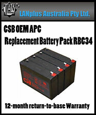 CSB OEM APC Replacement Battery Pack RBC34 UPS 1000 Tax invoiced, 1 year wty