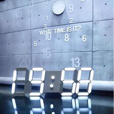 Gran Diseño Moderno Digital Led Esqueleto Reloj De Pared Temporizador 24/12 3D