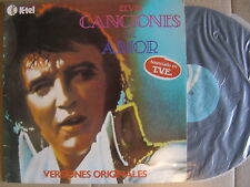 ELVIS PRESLEY canciones de amor SPANISH LP K TEL 1979 unique p/s