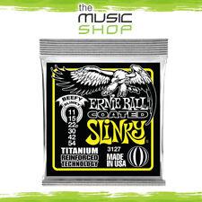 New Ernie Ball 3127 Coated Beefy Slinky Heavy Titanium Guitar Strings 11-54