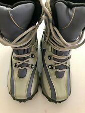 GIRLS SNOW/WINTER BOOTS SZ 6 THICK INSULATION LACE-UP ALABASTER / GRAY-BLUE