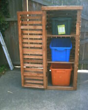 WOODEN RECYCLING BOX STORE SHED