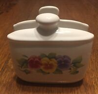 Corning Corelle (Jay Import Company) Pansy Napkin Holder EXCELLENT