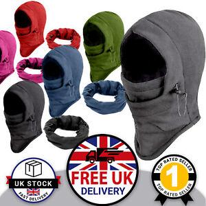 Women's Mens Unisex Fleece Thermal Balaclava Winter Warm Head & Neck Warmer UK
