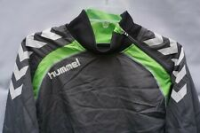 Men's Vintage Hummel Tracksuit Top Pullover Size Small Sports Grey / Green