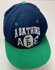 a bathing ape bape undefeated starter snapback cap navy