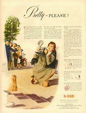 1942 vintage AD, Du Barry Cosmetic, News Camera Woman, Coby Whitmore Art  032014