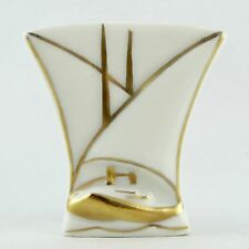 """ANCIEN, Petit Vase """"VOILIER"""" Porcelaine RENAUD CLERMONT Limoges-Genève, Art 20th"""