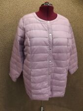 NEW Lightweight Purple Nylon Packable Puffer Jacket by Roamans Womens Plus Sz 1X