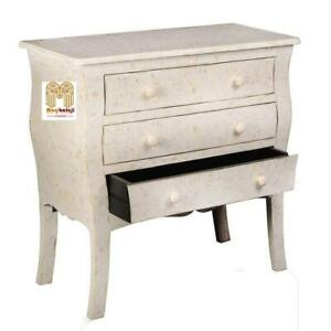 Handmade Bone Inlay 3 Chest Of Drawers Beautiful Floral Design Home Décor Inlay