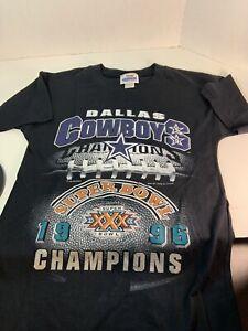 Team Glasgow Vtg Dallas Cowboys T Shirt XLG 1996 SuperBowl Youth